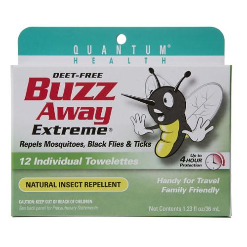 Buzz Away Towelettes Quantum 12 Pack by Quantum