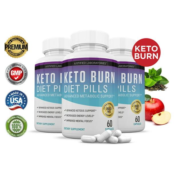 Keto Diet Pills Burn Shred BHB Salts Advanced Ketogenic Supplement Exogenous Ketones Ketosis Weight Loss Fat Burner Fast Carb Blocker 90 Day Supply