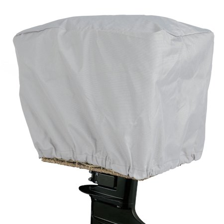 Gymax Grey 600D Polyester Waterproof UV Resistant Outboard Motor Hood Cover Full Size