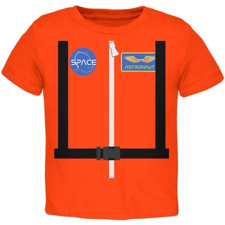 Halloween Astronaut Costume Orange Escape Suit Toddler T Shirt - Halloween Escape