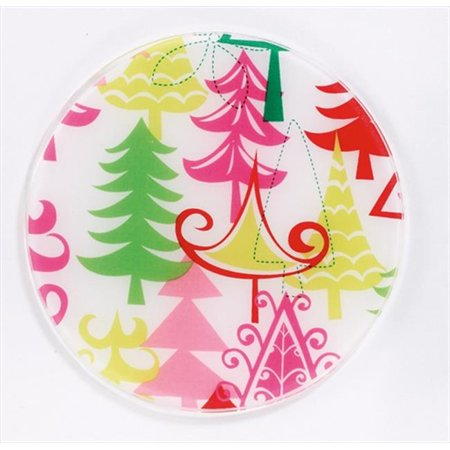 Andreas JO-70 Charlie Brown Xmas Round Silicone Mat Jar Opener - Pack of 3 trivets