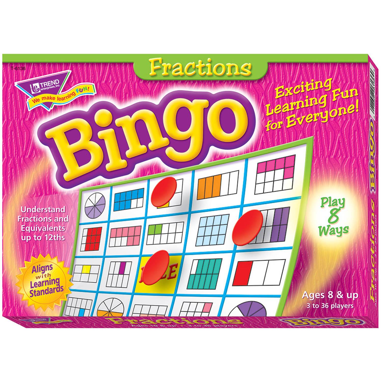 TREND enterprises Fractions Bingo Game