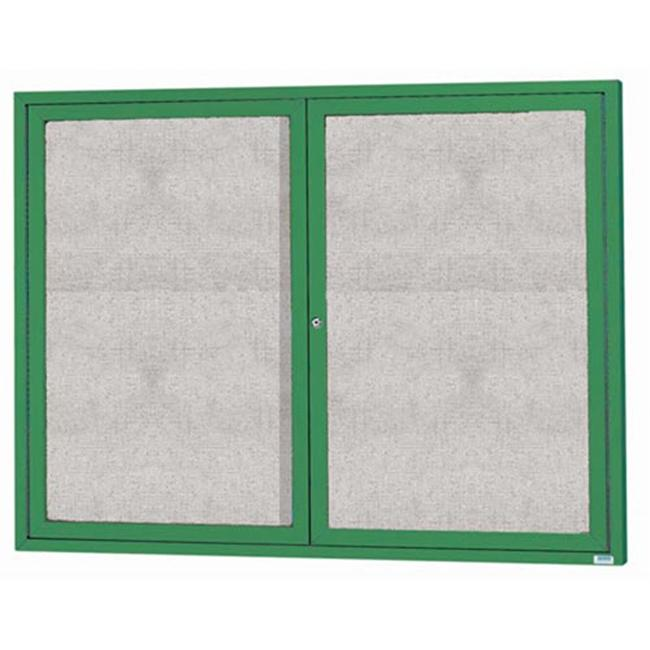 Aarco Products ODCC4860RG 2-Door Outdoor Enclosed Bulletin Board - Green