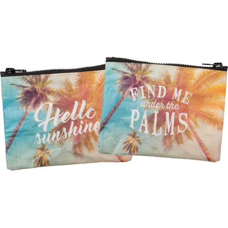 Shine Pouch - PRIMITIVES  BY KATHY Hello Sunshine / Find Me Under The Palms Small Zipper Pouch
