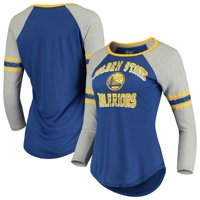 Golden State Warriors G-III 4Her by Carl Banks Women's The Court Tri-Blend Raglan 3/4-Sleeve T-Shirt - Royal/Heathered Gray