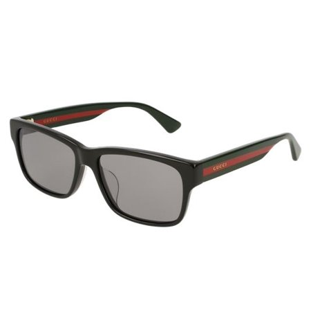 Black Red Stripe Ladies Sunglasses - GG0340SA-001