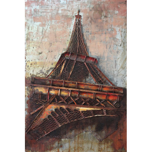 Empire Art Direct ''Eiffel Tower 1'' Mixed Media Iron Hand Painted Dimensional Wall D cor