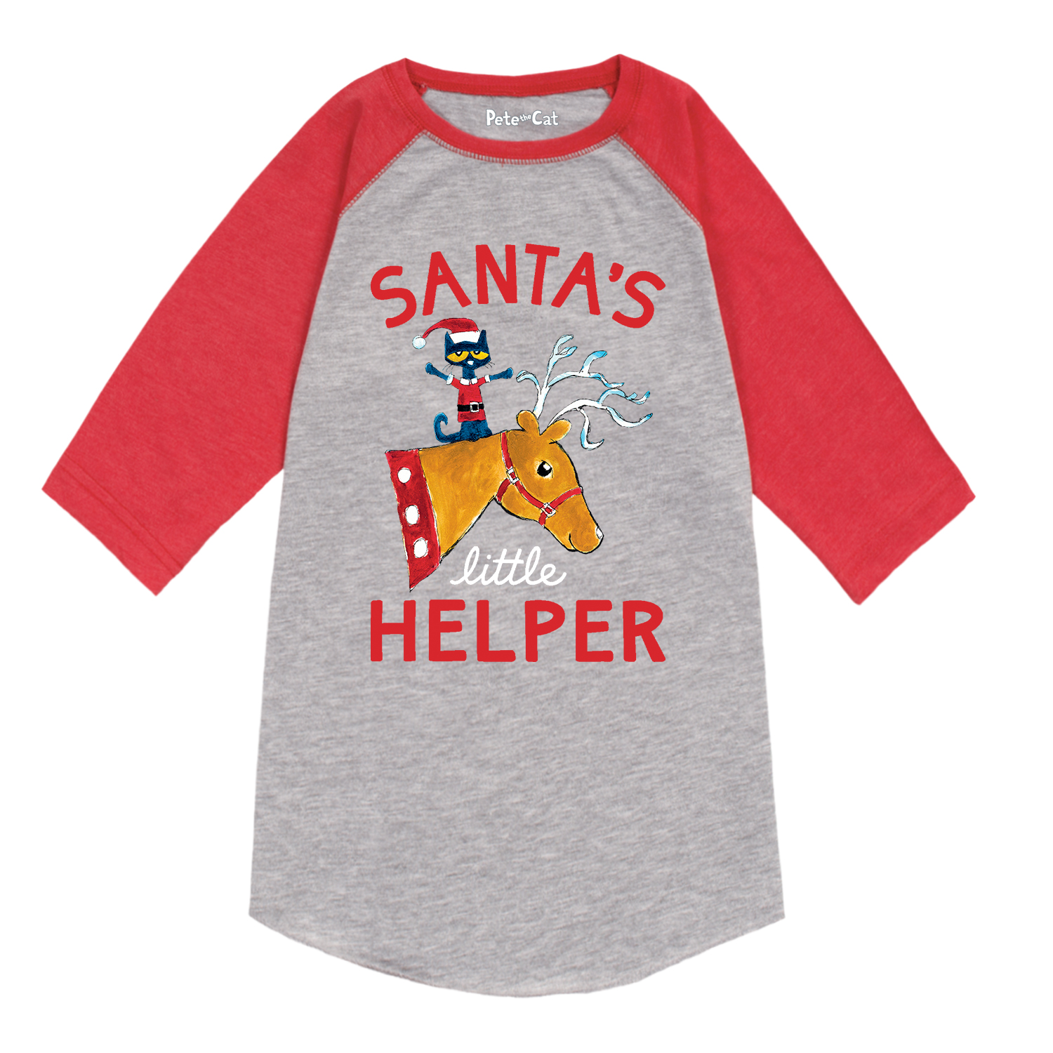 Pete the Cat Santa's lil' Helper Toddler Raglan