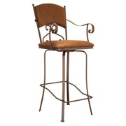 Cantina 24 in. Swivel Barstool - Brown