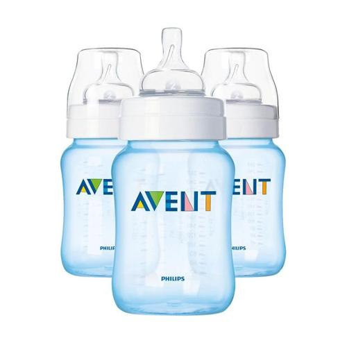Philips AVENT SCF685/37 BPA Free Classic 9 Ounce Polypropylene Bottles, Blue, 3-Pack