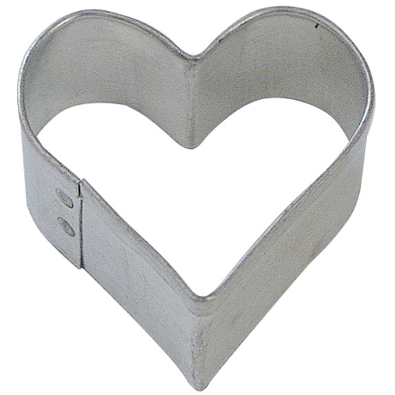 Mini Heart Cookie Cutter 1.5 in - Foose Cookie Cutters - US Tin Plate Steel