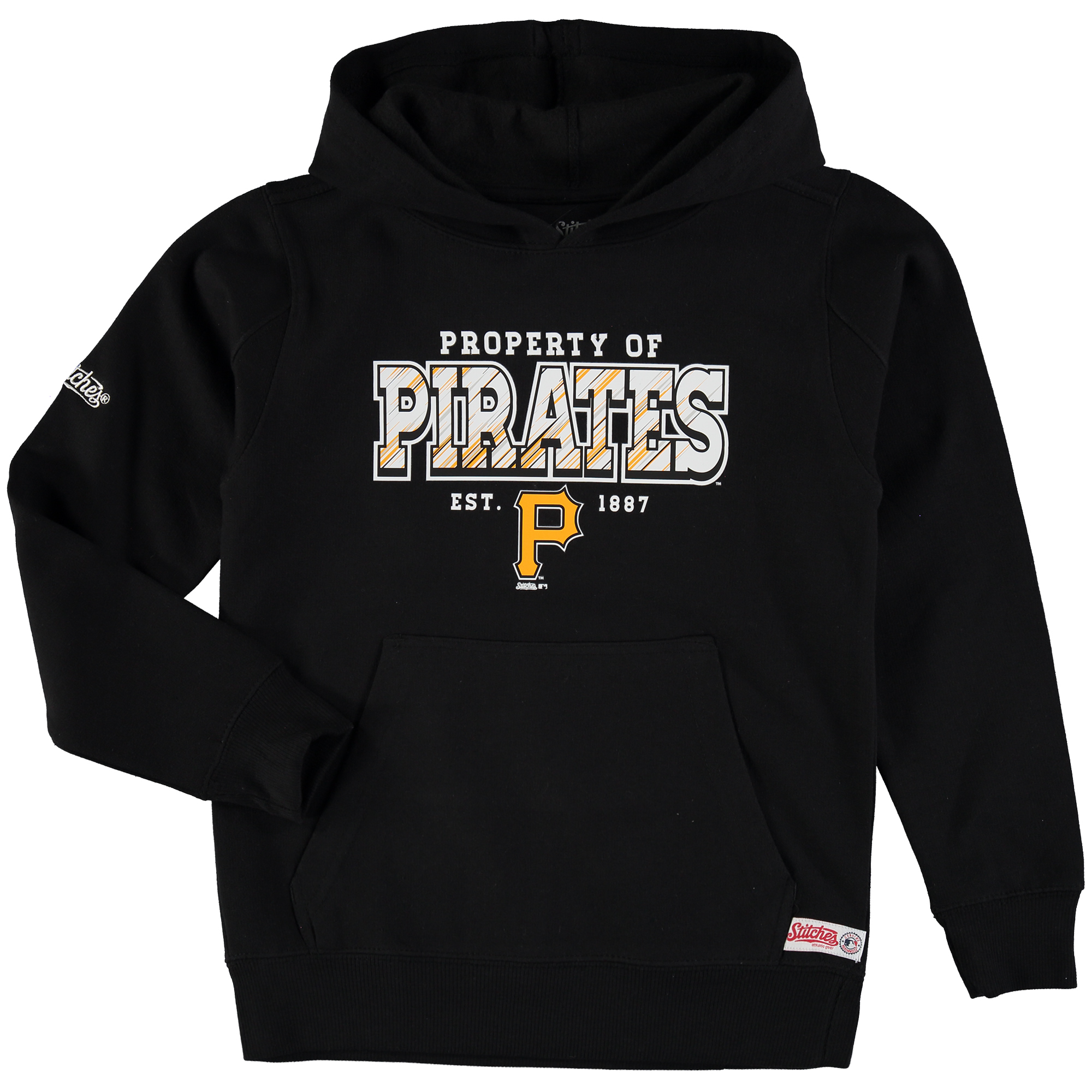 Pittsburgh Pirates Stitches Youth Property Of Team Hoodie - Black