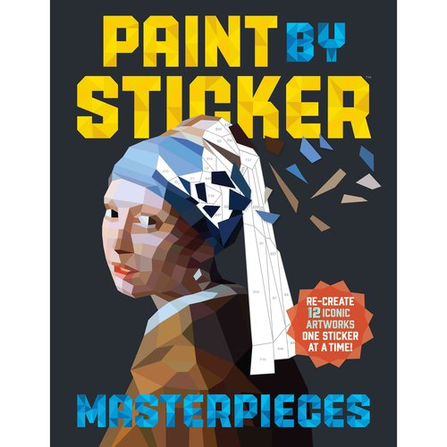 Paint by Sticker Masterpieces:Re-Create 12 Iconic Artworks One Sticker at a Time! by Workman Pub Co