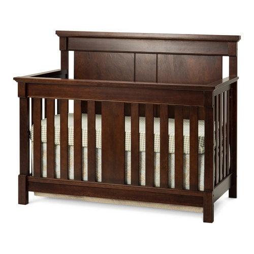 Bradford 4-in-1 Lifetime Convertible Crib, Select Cherry
