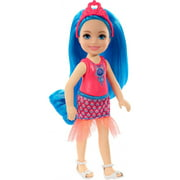 Barbie Dreamtopia Chelsea Sprite Doll, 7-Inch, With Blue Hair Wearing Fashion And Accessories