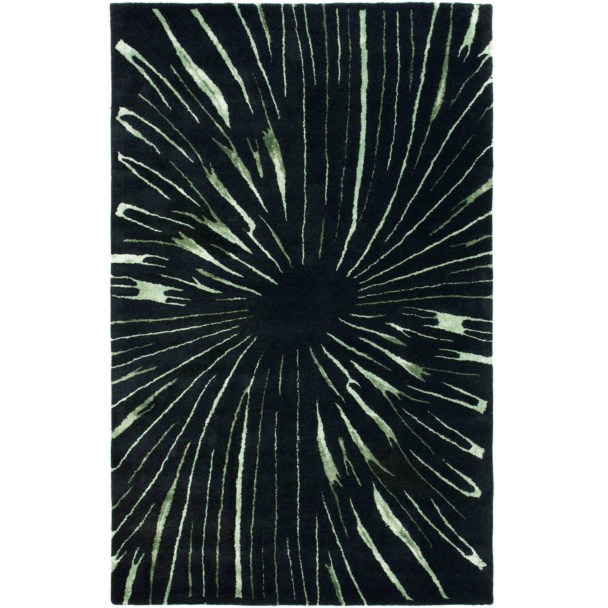 Safavieh Soho Addison Wool Rug, Black/Multi-Color