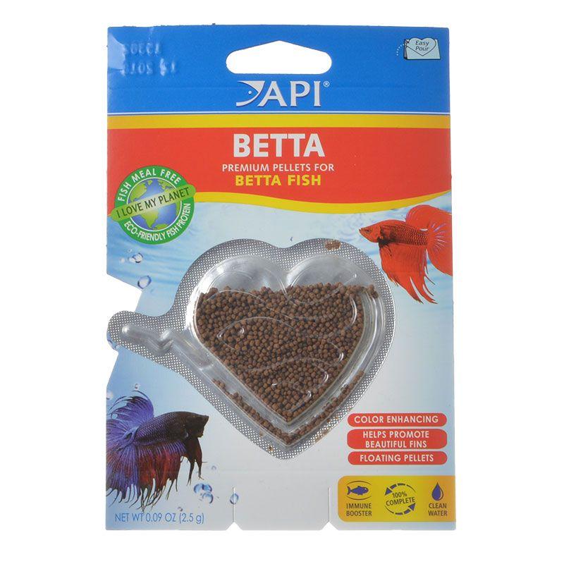 API Betta Premium Pellets for Betta Fish Food .09 oz - Pack of 2