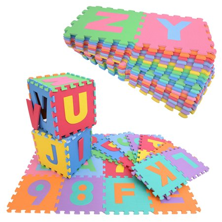 36pc Alphabet Number Eva Foam Floor Abc Mats For Kids