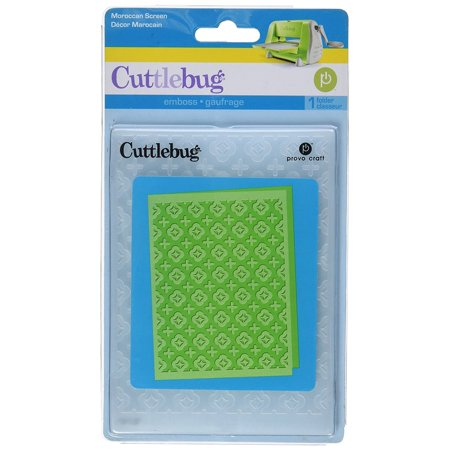 Cuttlebug A2 Embossing Folder, Moroccan Screen, For use with the Cuttlebug die cutter & embosser machine By Provo Craft (Pads Provo Craft)