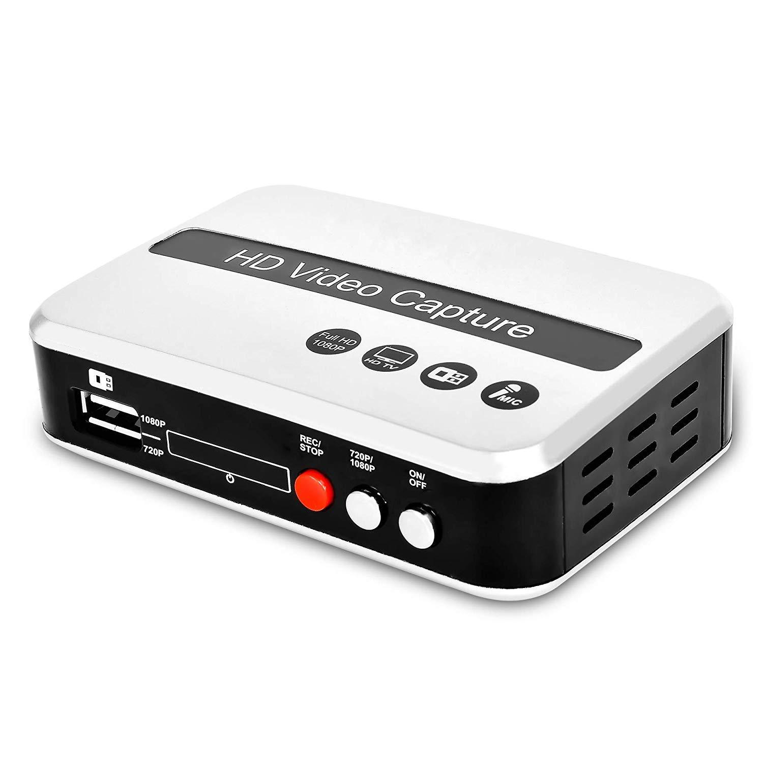 DIGITNOW! HD Game Capture/HD Video Capture Device, HDMI Video Converter/Adapter Recorder for PS4, Xbox One/Xbox 360,LiveTV,PVR DVR and More, Support Mic in, HDMI Input and Output, Full HD 1080P