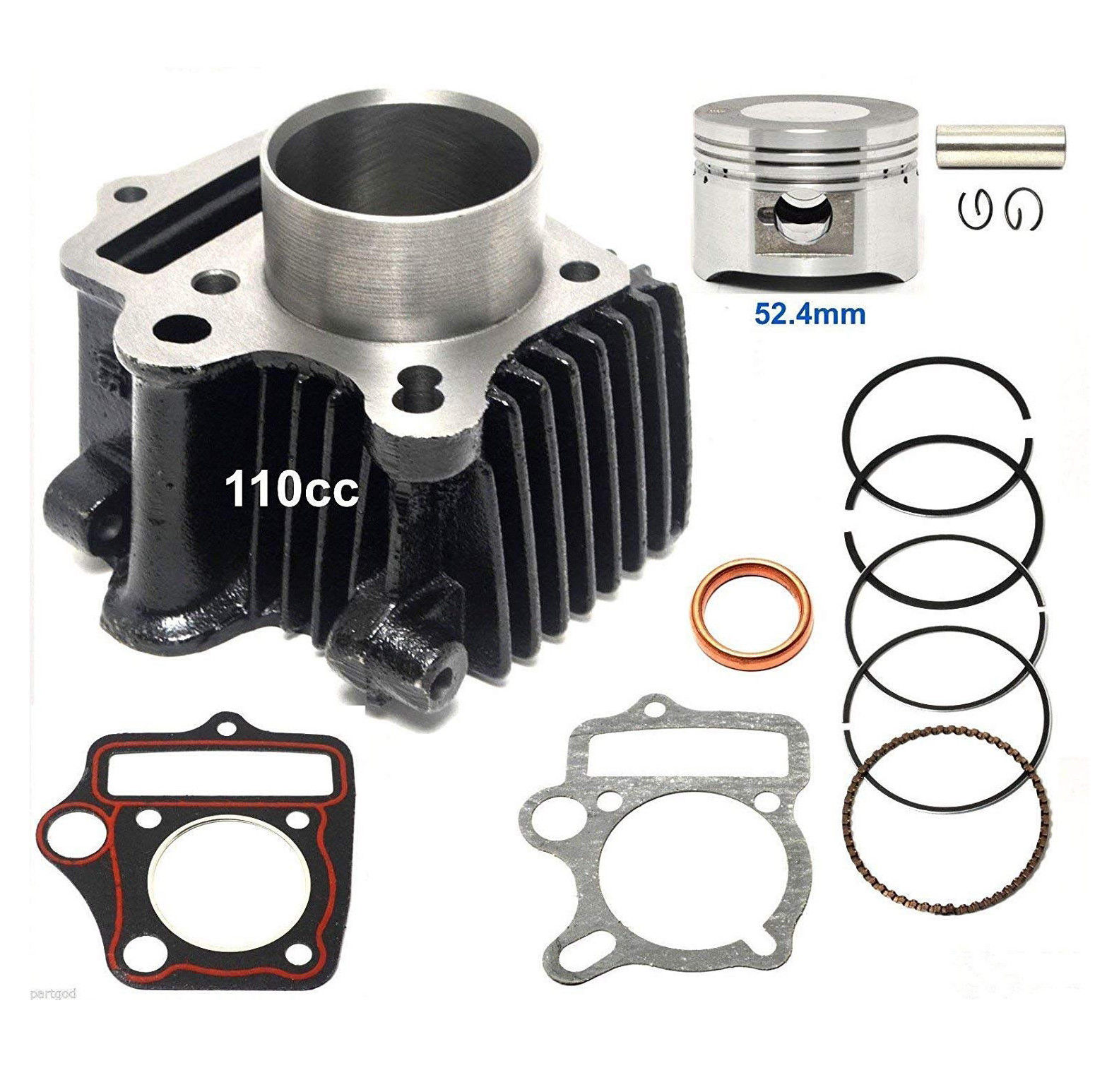 sunl atv fuel filter cylinder rebuild kit for chinese 110cc 1p52fmh roketa ssr sunl atv  cylinder rebuild kit for chinese 110cc