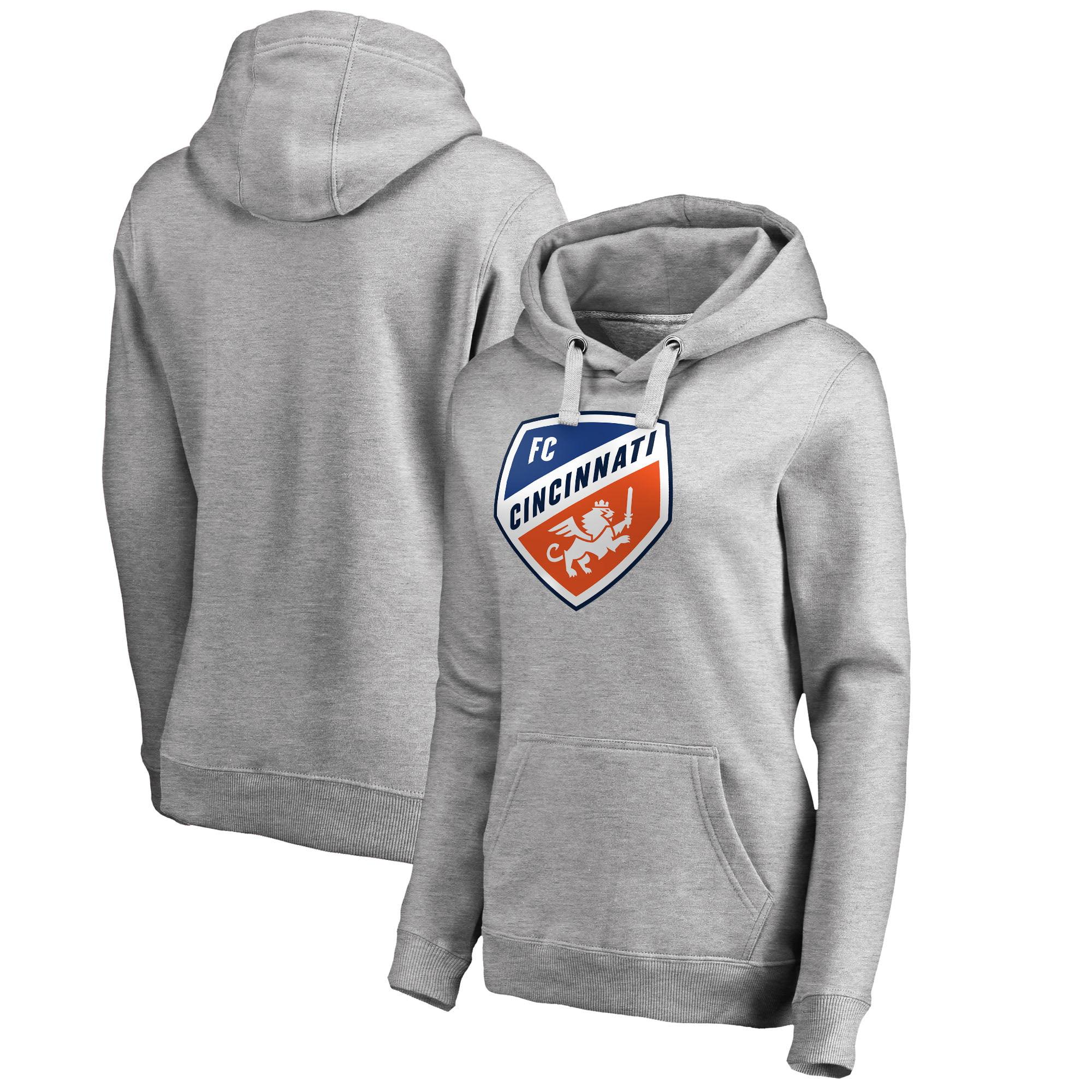 FC Cincinnati Fanatics Branded Women's Primary Logo Pullover Hoodie - Heather Gray