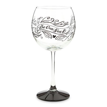 Disney Parks Be Our Guest Chalkboard Stemmed Red Wine Glass New](Black Stem Wine Glass)