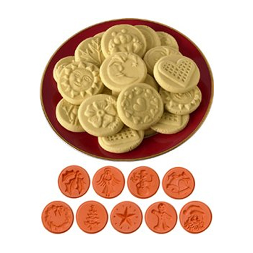 JBK Pottery Cookie Stamp Set - Christmas - 9 pcs