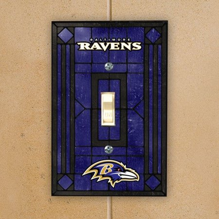 Baltimore Ravens Purple Art-Glass Switch Plate - Purple Switchplate