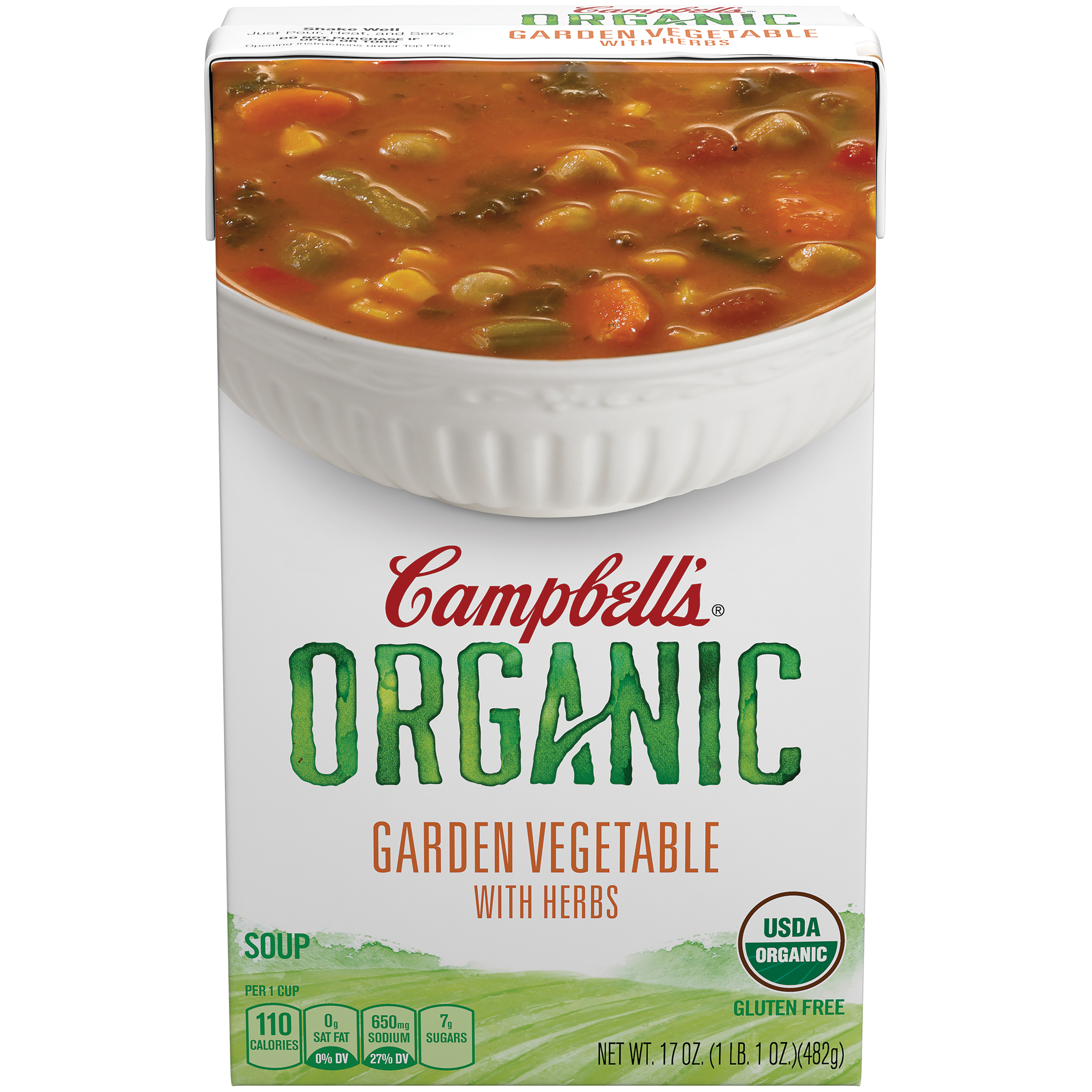 Campbell's Organic Garden Vegetable with Herbs Soup 17oz by Campbell Soup Company