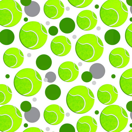 Tennis Ball Premium Gift Wrap Wrapping Paper Roll Pattern