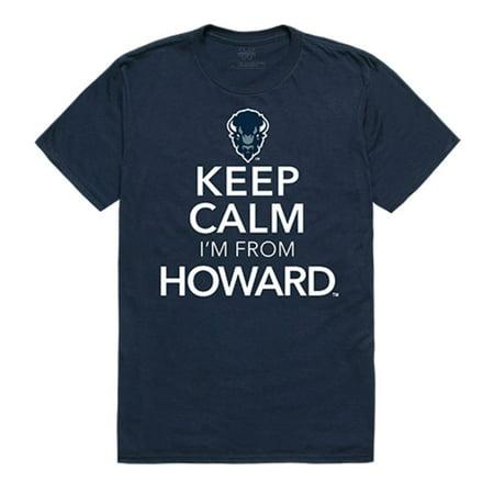 Howard University Bisons Keep Calm Tee T-Shirt Navy -