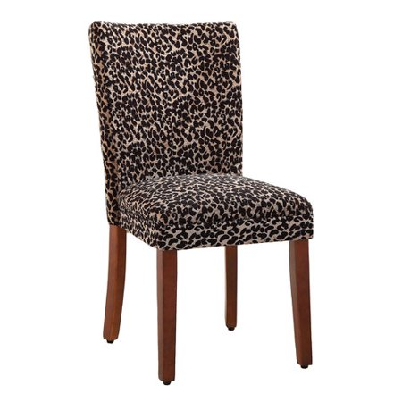 HomePop Leopard Parsons Chair (Set of 2) ()