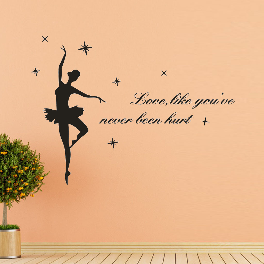 L BALLERINA Wall Decal Stickers Home room Decor Art Removable Type 3