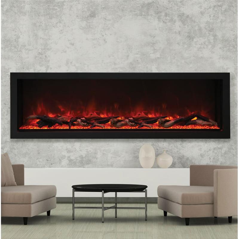 "Amantii 72"" Wide Deep Indoor or Outdoor Electric Fireplace"