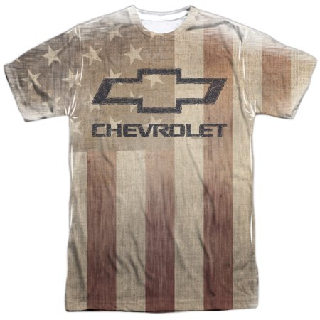 Chevrolet Automobiles Chevy American Pride Faded Adult Front Print (American Pride Print)