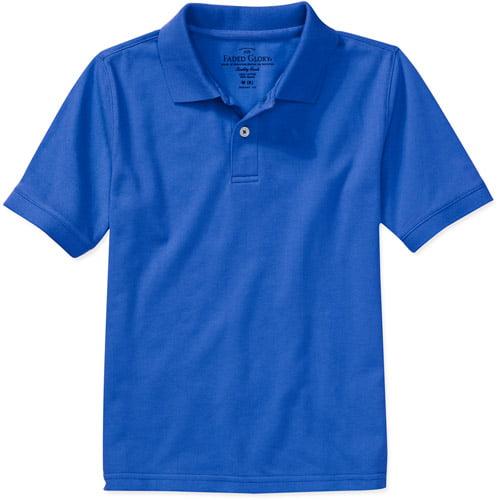 Faded Glory Boys' Solid Short Sleeve Polo Shirt
