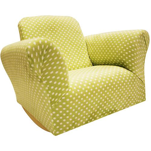 Child's Rocking Chair, Green Dot