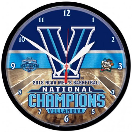 Bears Ncaa Wall Clock - Villanova Wildcats 2018 NCAA Basketball National Champions Round Wall Clock