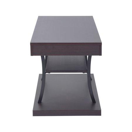 furniturer tv stand floor shelf coffee table with storage multipurpose