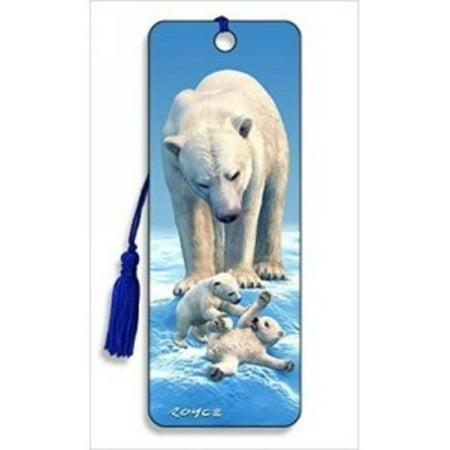 Polar Bears Bookmark by Artgame - BK79PBR - 3d Bookmarks For Kids