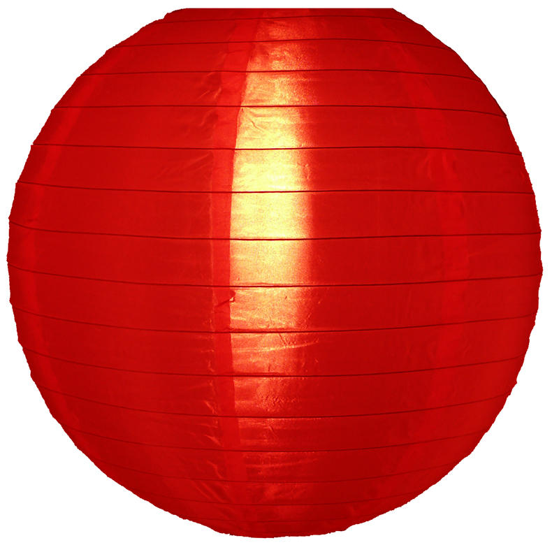 "Quasimoon 10"" Red Nylon Lantern, Durable Hanging Decoration by PaperLanternStore"