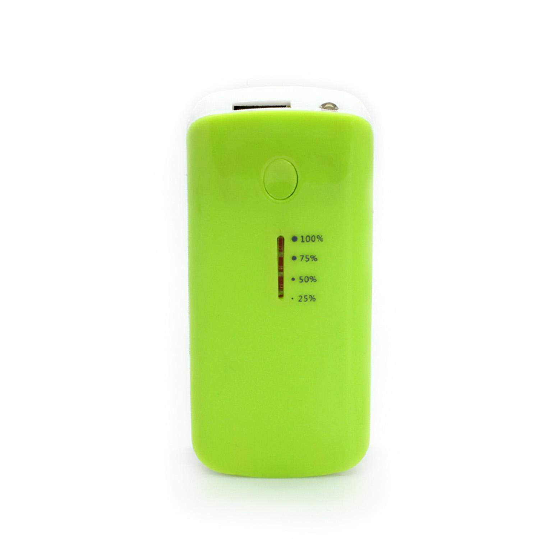 CBD Power Bank Battery USB LED Charger for Mobile Phone Smart Camera 5600mAh Green