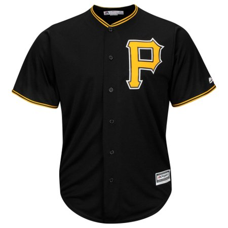 Pittsburgh Pirates Majestic Official Cool Base Jersey - Black