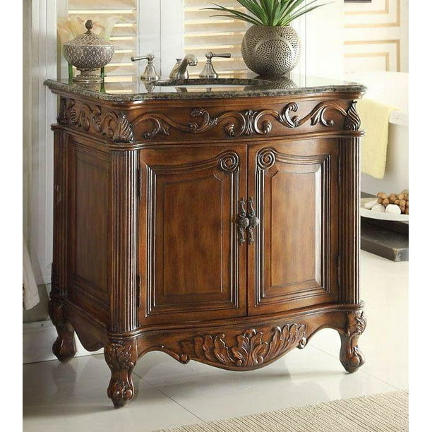 32 Benton Collection Fiesta Antique Victorian Style Brown Bathroom Vanity Cf 2873sb Tk Walmart Com Walmart Com