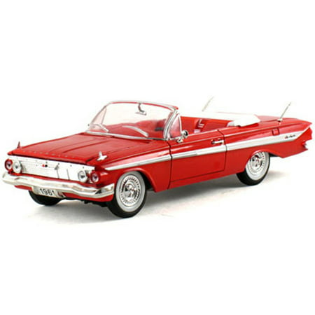 Chevy Impala Models - 1961 Chevy Impala Convertible, Red- Signature Models 32431 - 1/32 Scale Diecast Model Toy Car