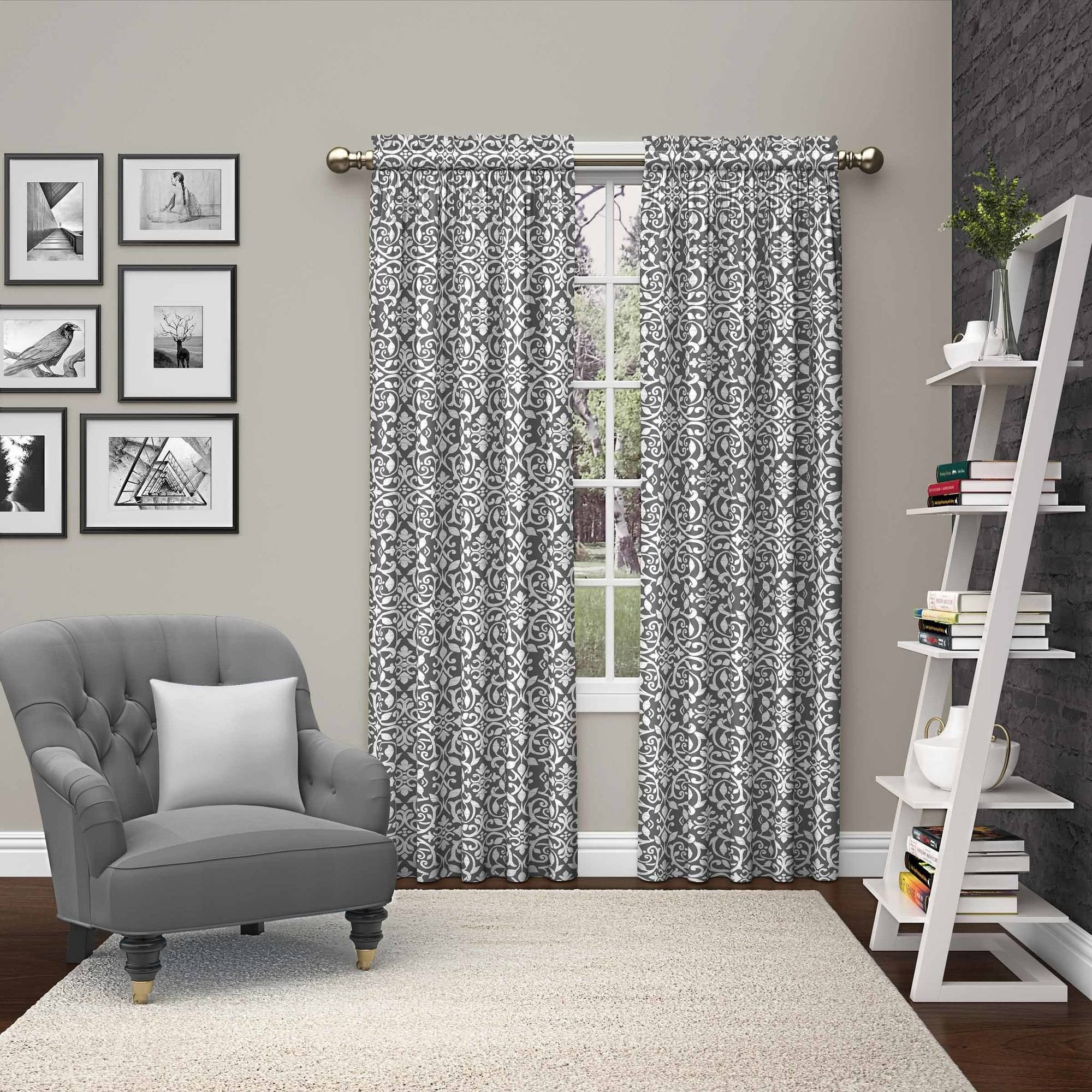 Mainstays Greek Key Fashion Window Curtain Panels, Set of 2 ...