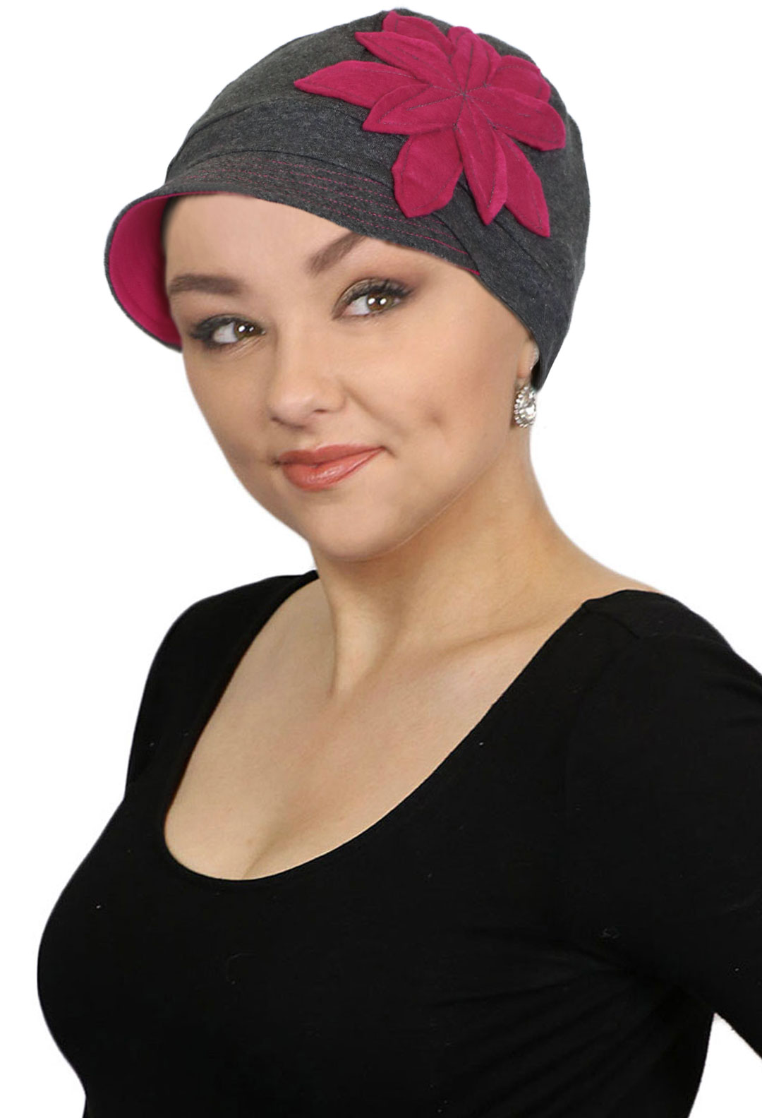 f0981a859 Chemo Hats for Women Cancer Headwear Headcoverings Soft Cotton Cute  Baseball Caps (Pink Cadillac)