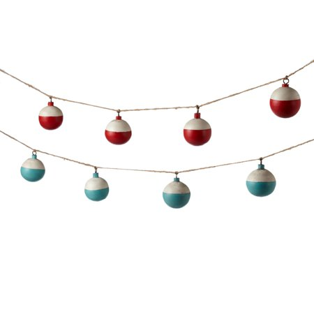 Vintage look traditional fishing bobbers 72 inches garland for Fishing bobbers walmart