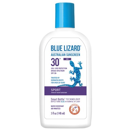 Signature Lizard (Blue Lizard Australian Sunscreen, Sport, Broad Spectrum SPF 30+, 5 Oz )